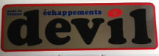 DEVIL EXHAUST DECAL 2 145MM X 45MM