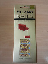 MILANO NAIL POLISH STRIPS STICK ON NAIL ART BROWN TIGER BRAND NEW