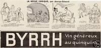 Publicité ancienne Byrrh 1924 issue de magazine