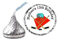 216 HOCKEY BIRTHDAY PARTY FAVORS HERSHEY KISSES LABELS