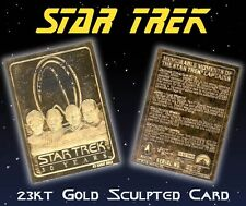 Star Trek 4 Captains 23K Gold Tablet Card #1