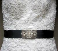 Wedding gown embellishment crystal jeweled belt sash