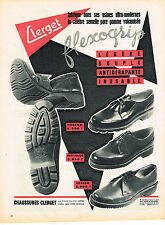 PUBLICITE ADVERTISING   1955   CLERGET  chaussures