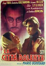 manifesto 2F orig. LA CITTA' DOLENTE Gianni Rizzo Constance Dowling 1949 POLA