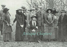 Marquis of Graham Shooting Party Easton Park Suffolk 1912 Photo Article B733