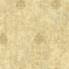 Victorian Vintage Metallic Gold Brown Tan Medallion Antique Chic Wallpaper Diy