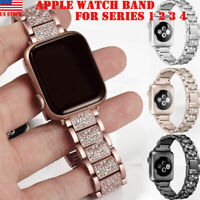Stainless Steel Strap iWatch Bracelet Diamond Fr Apple Watch 38/42/44/40mm 4 3 2