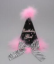 Party Hat, Birthday, fancy marabou fur, cone, girls