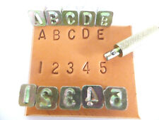 """1/4"""" [6 mm] Simple Alphabet & Number Leather Stamping Set - Ivan /Craftool"""
