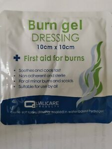 L@@K Burn Gel - Sterile First Aid Cooling Gel dressing Scalds  10cm X 10cm !!