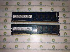 New listing Lot of 2 Skhynix Hmt451U6Bfr8C-Pb 4Gb Total (4Gbx2) Pc3-12800U Ddr3 Non-Ecc Dimm