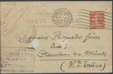 1926  ENTIER POSTAL CARTE POSTALE   TYPE SEMEUSE OBLITERATION VIENNE