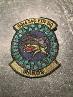 "93rd Fighter Squadron Makos 70s 80s Patch 4"" USAF Subdued Vtg Rare Homestead AFB"