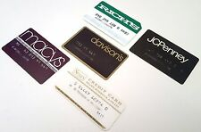 VINTAGE CREDIT CARD DEPARTMENT STORE CHARGE CARDS RICHS MACYS DAVISONS SEARS