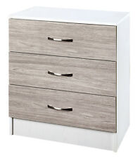Grey and White Set of 2   Chest of 3 Drawers   Furniture Bedroom Units