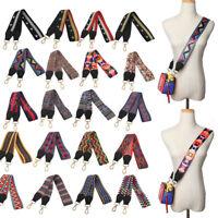 Multicolor Canvas Wide Bag Strap Replacement Crossbody Detachable Purse Belts