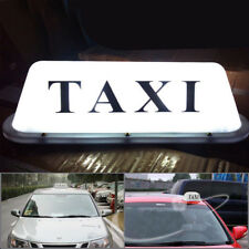 White LED Taxi CAB Sign Roof Top Topper Car Super Bright Light Lamp Bulbs DC 12v