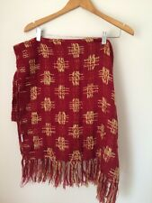 Red/gold Textured Scarf 60cm X 180cm <T4306
