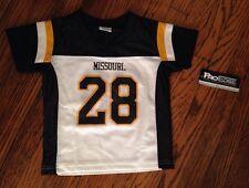 NWT Missouri Tigers Toddler Boys Jersey Shirt Size 2T