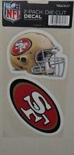 NFL SAN FRANCISCO 49ers 2 4X4 DECALS TATTOOS FAST FREE SHIPPING