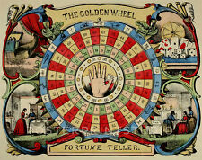 Golden Wheel Fortune Teller, 1862 Vintage Giclee Canvas Print 22x28