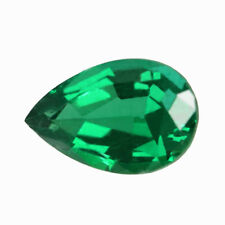 Certified 0.74 ct Zambia Natural Emerald Pear ~7.5 x 5 Loose Gemstone 285_VIDEO