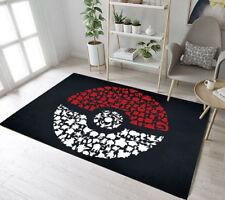 Pokemon Go Ball Animals Bedroom Carpet Rug Area Rugs Living Room Floor Door Mat