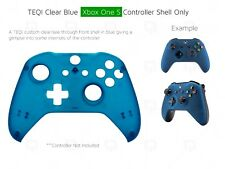 New Xbox One S Blue Clear Controller Soft Front Shell Unique Mod Custom Housing