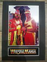 Hulk Hogan & Randy Savage Display Mounted Photograph Wrestler A4 Retro Gift