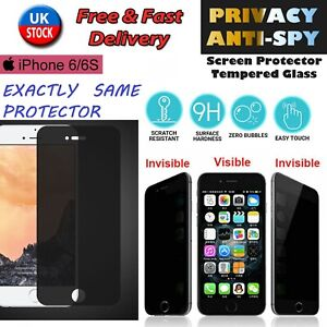 ANTI SPY SCREEN TEMPERED GLASS PRIVACY PROTECTOR FOR IPHONE 6 / 6S