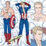 Captain America Dakimakura hugging pillow case 50x150cm fabric N460