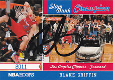 BLAKE GRIFFIN LOS ANGELES CLIPPERS SIGNED 2011 SLAM DUNK CHAMPION NBA HOOPS CARD
