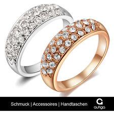 Damen Ring Zirkonia Kristall Strass Luxus Edel Verlobungsring Swarovski