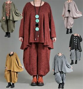 ♦ 6 Farben AKH Fashion Feinstrick Big Shirt EG 46,48,50,52,54,56,58,60,62,64 ♦