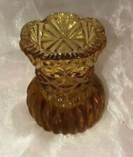 Old Vintage ~ Small Amber Glass Thistle Vase ~ Estate Collectable