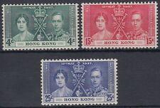 Hongkong 1937 ** Mi.136/38 Krönung Coronation [sq7720]