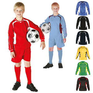 Boys Girls Kids Full Football Strip Kit Micromesh Top and Shorts Training Team