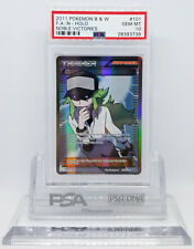 Pokemon NOBLE VICTORIES FULL ART N 101/101 TRAINER HOLO FOIL PSA 10 GEM MINT #*