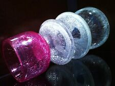 "RARE! ART DECO ""VEIL-GLASS"" CRACKLE KARCAG GLASS VASE  60-80s  1pc"