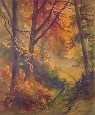"""Lucille Hobbie (American,1915-2008), """"FALL COLORS"""" Original Watercolor, Listed"""