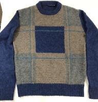 Mens Large Vintage Shetland Wool Blend Crewneck Sweater The Sundays Co.