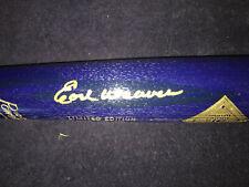 1996 HOF BLUE Induction Bat Autographed by Earl Weaver - New in Bat Tube
