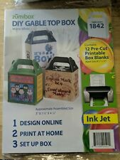 19 packs Zumibox Diy Gable Top Box, 12 Pre-Cut Printable Boxes Ea pk-228 Total