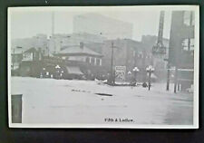 Mint Vintage 1913 Dayton OH Great Flood Fifth & Ludlow Real Photo Postcard