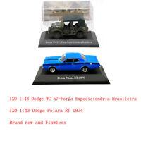 1:43 IXO Dodge Polara RT 1974/ WC 57-Força/1500 1971 Diecast Models Toys Car