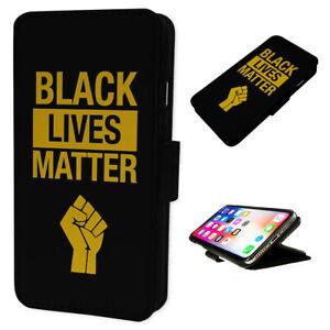 Black Lives Matter Fist BLM - Flip Phone Case Wallet Cover Fits Iphone & Samsung