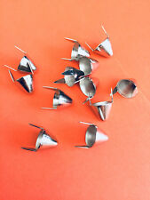 11MM TALL UK77 ENGLISH CONE SILVER STUDS BRAND NEW SHIPS FROM USA