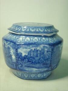 ORIGINAL 1920s Ringtons Maling Ware WINDSOR CASTLE + NORTHERN CASTLES Tea Caddy
