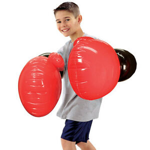 JUMBO AIR BOXING GLOVES INFLATABLE FUN KIDS ADULTS GIFT XMAS SPORTS PARTY NEW