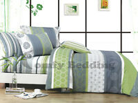 Serene Bedding Set: Duvet Cover Set/Heavy Weight Comforter or Both Queen/King